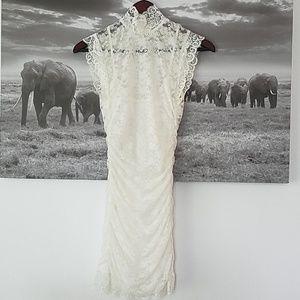 Forever 21 white lace stretch mini dress